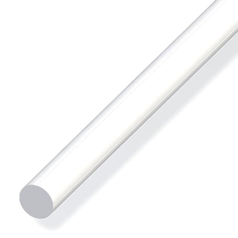 1M SOLID ROUND 7.5MM WHITE PVC