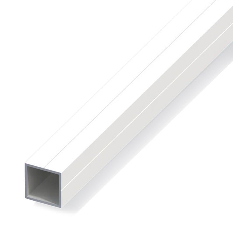 1M SQUARE TUBE 23.5 FOR M20 PVC WHITE
