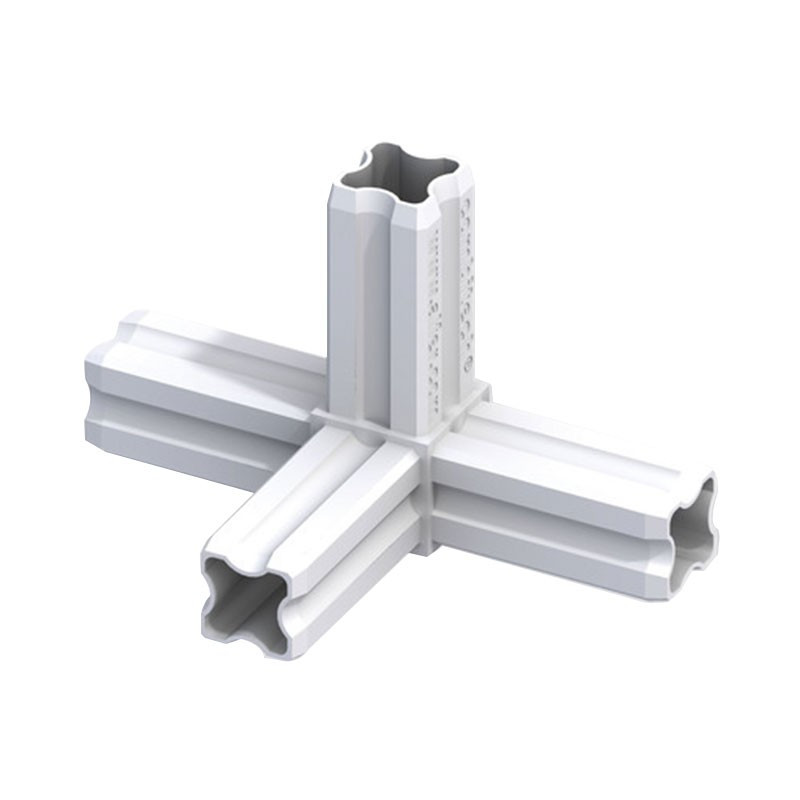 90° JUNCTION CONNECTOR WHITE 4 FERRULES