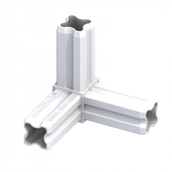 CONNECTEUR ANGLE 90° BLANC 3 EMBOUTS 23.5MM