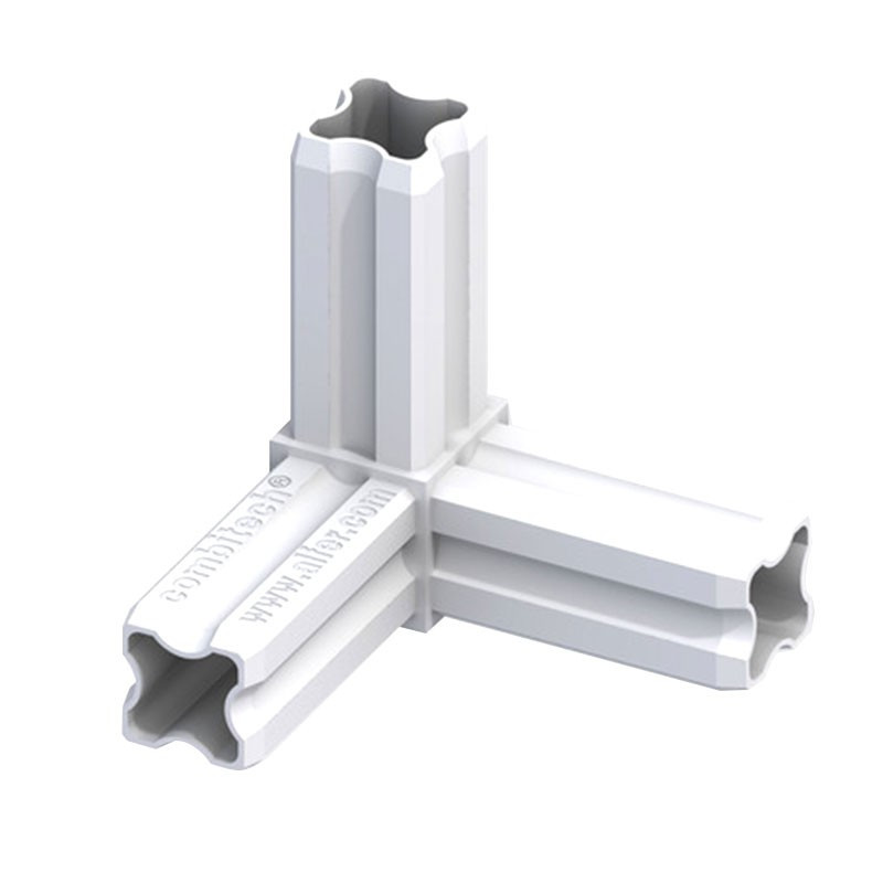 90° ANGLE CONNECTOR WHITE 3 END CAPS 23.5MM