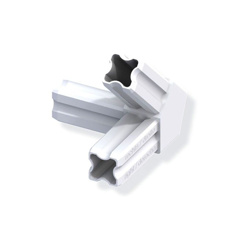 ANGLE CONNECTOR 45° STRAIGHT WHITE 3 FERRULES 23.5MM