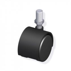 ROULETTE A VISSER FILETAGE M10 ACIER/PVC NOIR DIAM 40MM