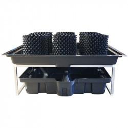 Système de table à marée 1.44m2 complet + 9 Airpots 9.2L - Flowtable Pro