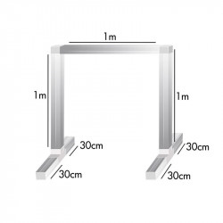 Kit feet and bars for lamp holder 1 x 1 x 1m