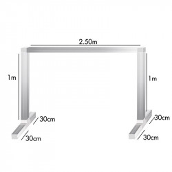 Kit feet and bars for bracket lamp 1 x 2.5 x 1m