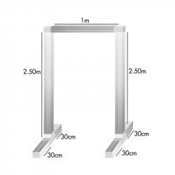 Kit feet and bars for bracket lamp 2.5 x 1 x 2.5 m