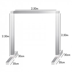 Kit feet and bars for lamp holder 2.5 x 2.5 x 2.5 m