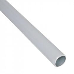 Barre pour structure chambre de culture - Femelle-femelle n°1 74cm Ø15mm - Black Silver