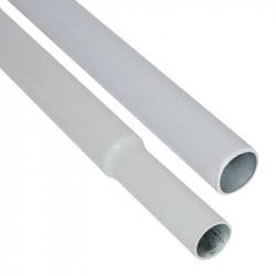 Barre pour structure chambre de culture - Mâle-femelle n°3 80cm Ø15mm - Black Silver