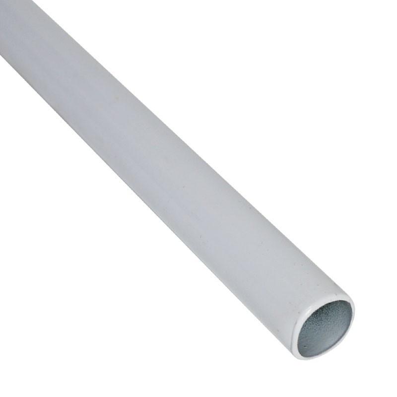 Bar for grow room structure - Female-female n°2/3 114cm Ø15mm - Black Silver