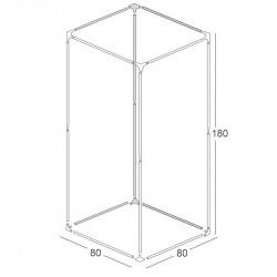 Structure chambre de culture 80x80x180cm - Black Silver