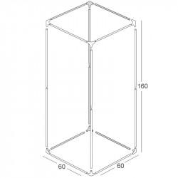 Structure chambre de culture 60x60x160cm - Black Silver