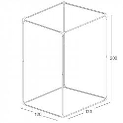Structure chambre de culture 120x120x200cm - Black Silver
