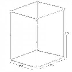 Structure chambre de culture 150x150x200cm - Black Silver