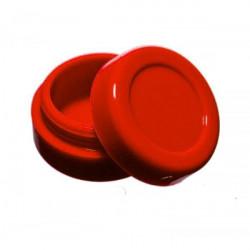 Boîte silicone diamètre 3,6 cm rouge Wax