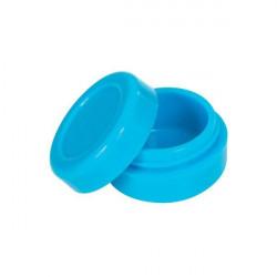 Boîte silicone diamètre 3,6 cm bleue Wax