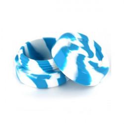 Boîte silicone diamètre 3,6 cm bleue / blanche Wax