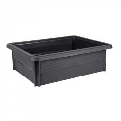 Espace potager Veg&Table Garden - 79x59x24,2cm 67L gris anthracite - EDA Plastique