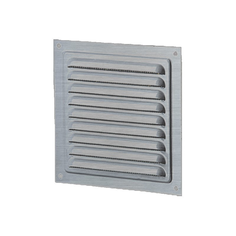 SQUARE VENTILATION 250MM GALVANIZED STEEL + INSECT SCREEN