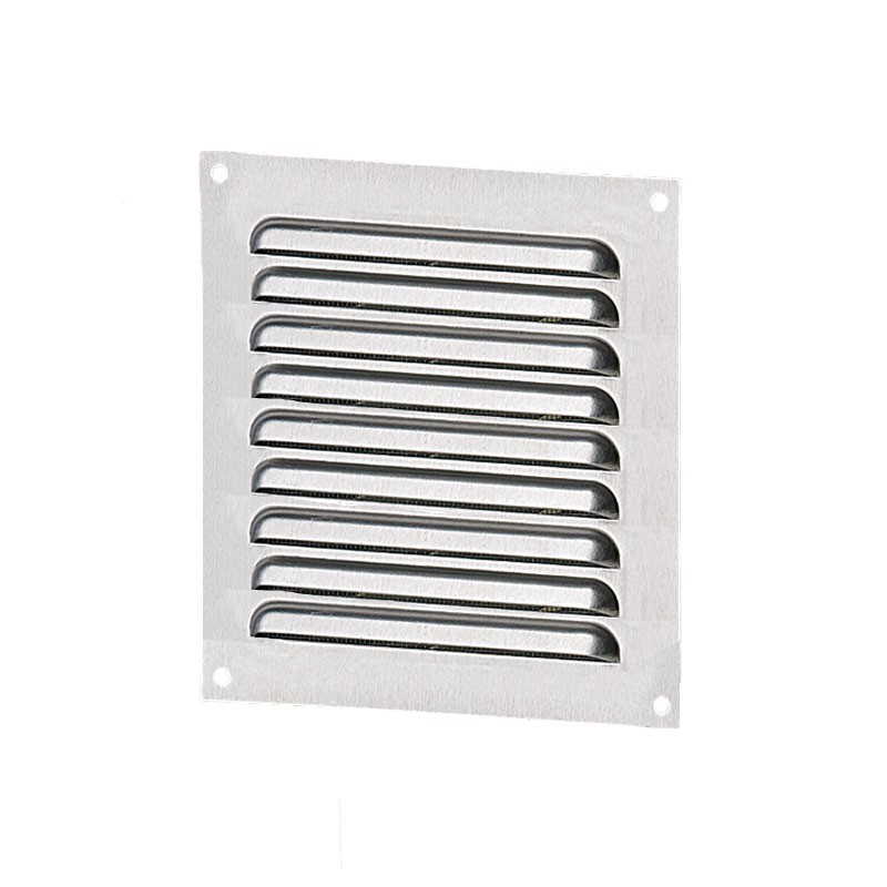 SQUARE VENTILATION 100MM GALVANIZED STEEL + INSECT SCREEN