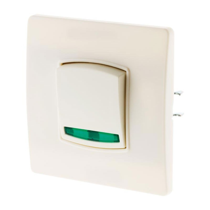 Push button toggle switch with 10A indicator light Diwone white + claws