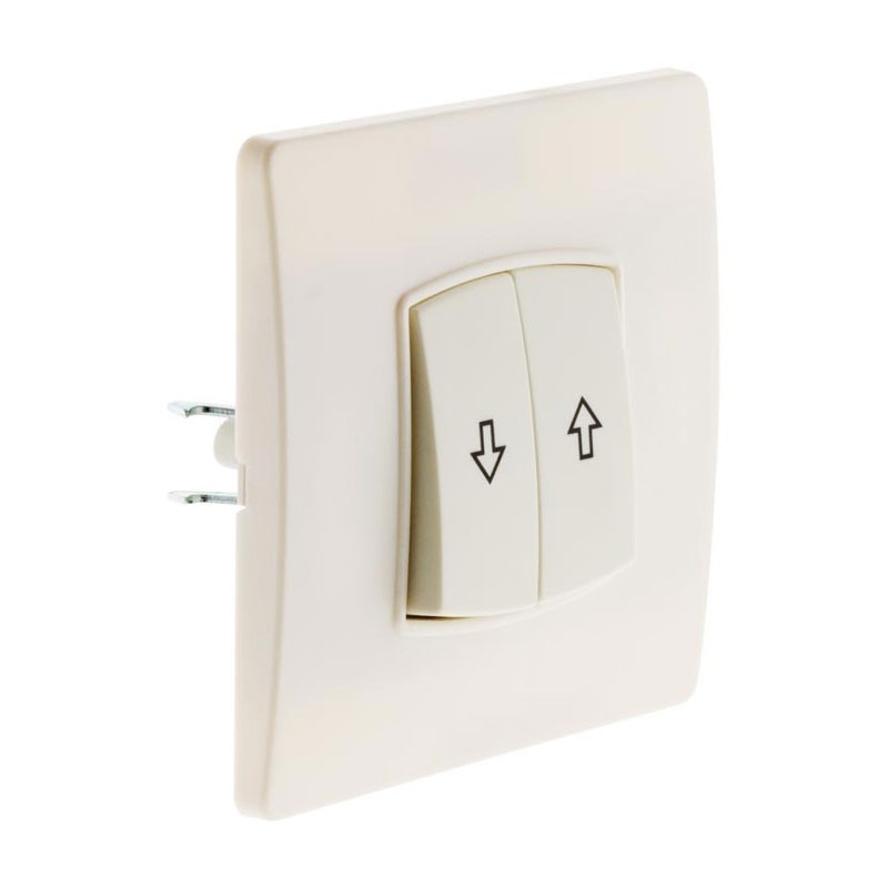 Wall-mounted roller shutter control Diwone white + claws