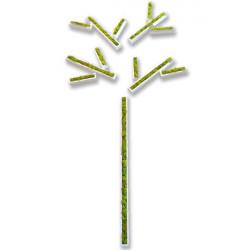 Stickers Végétaux En Lichen Blanc Laqué , tableau végétal , mur végétal