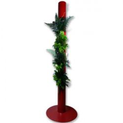 Flowerbox Stabilisé Totem 200cm Rouge , tableau végétal , mur végétal