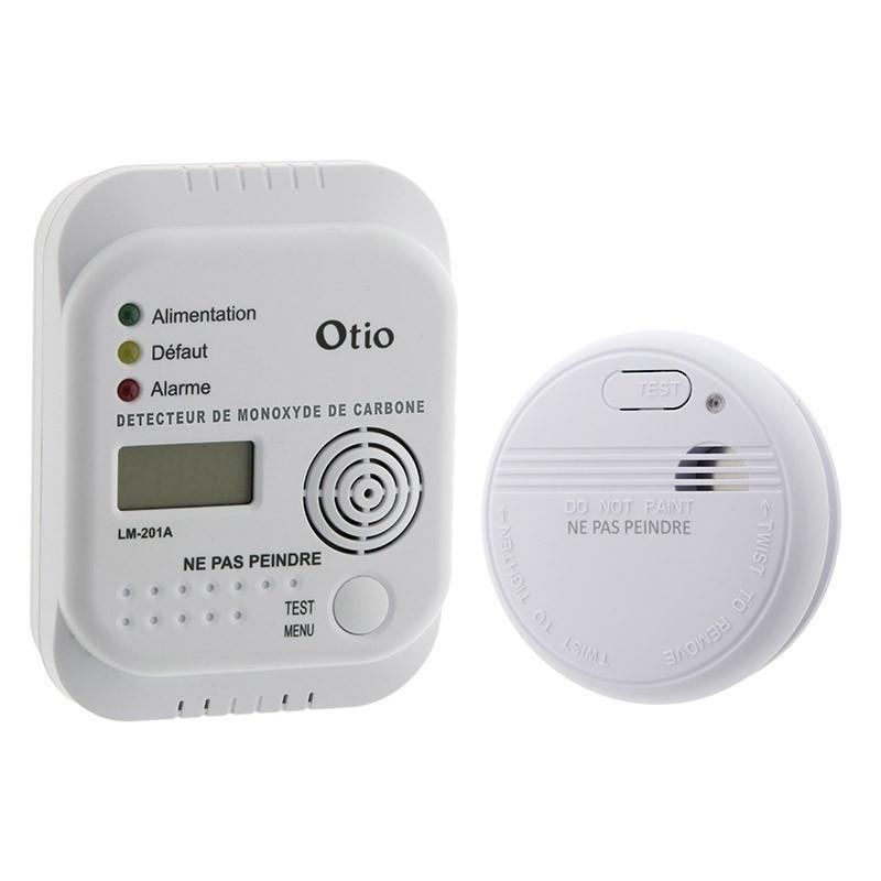 TRANQUILLITY KIT - Carbon monoxide detector kit NF and CO - OTIO - 520097