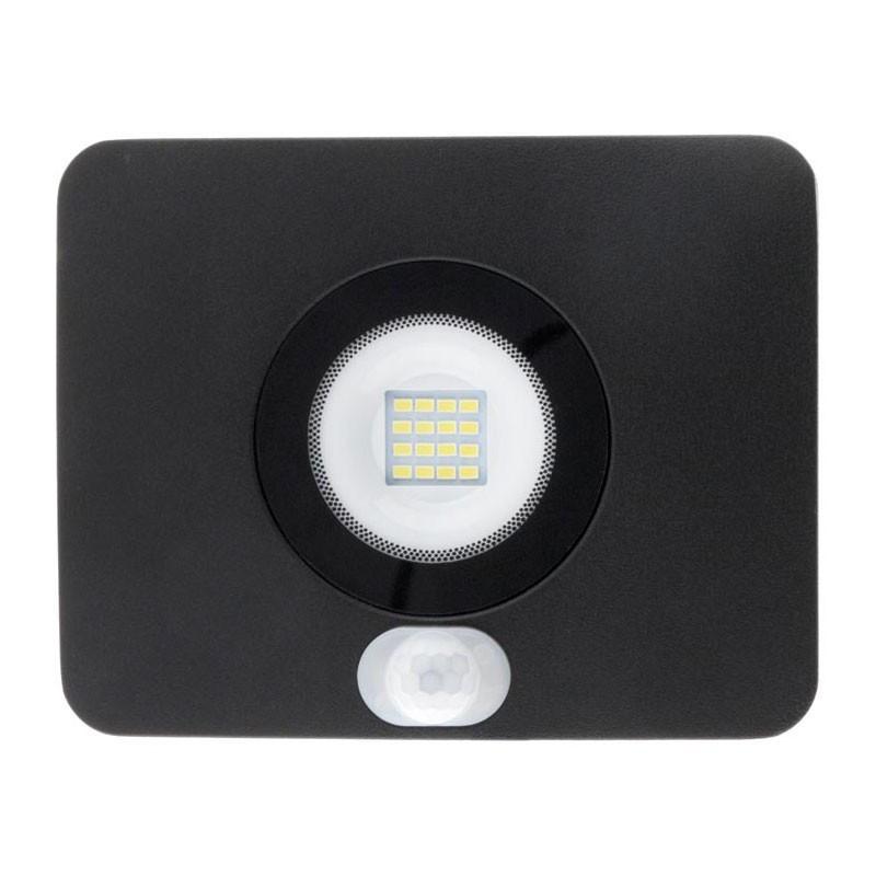 LED floodlight with 20W detector IP65 waterproof 1600 lumens Black Elexity