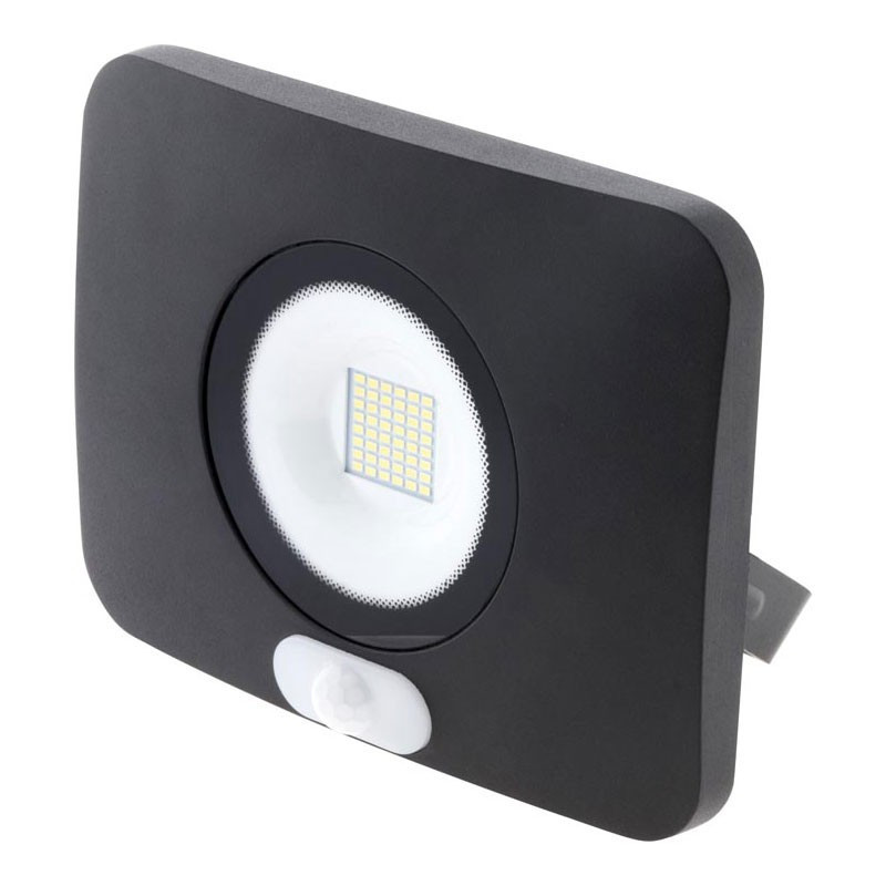 50W 4000LM black 6500K° LED floodlight with detector