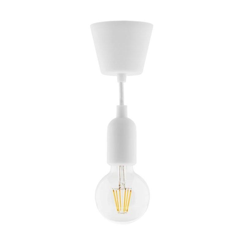 Luminaire kit of suspension decoration white + globe 6w led filament