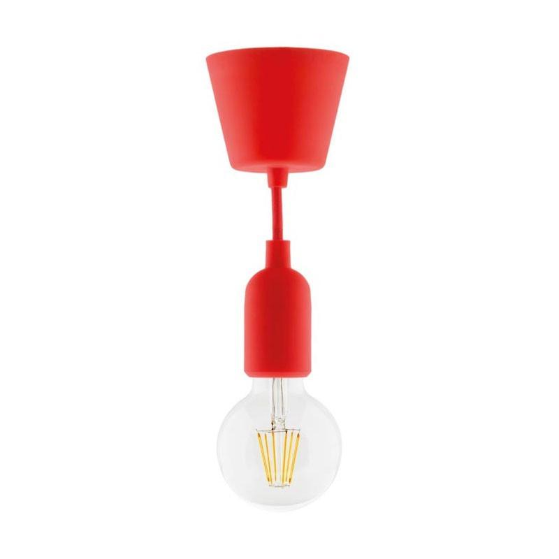 Deco red silicone suspension kit + led globe filament
