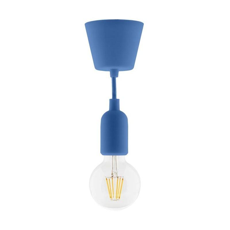 Lighting kit suspension set silicone blue + globe filament led 6w