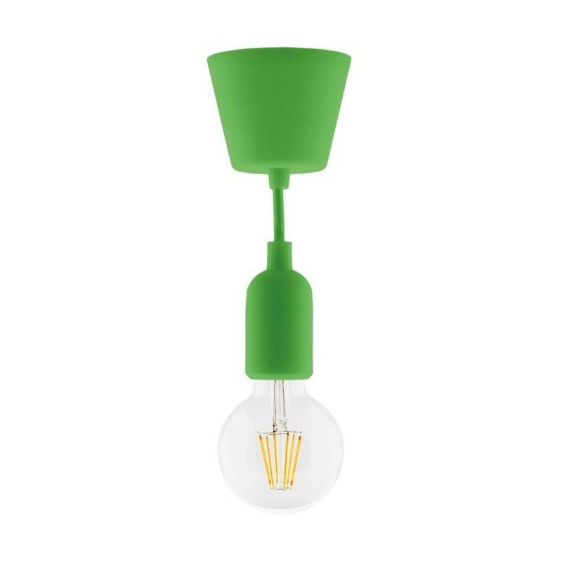 Lighting kit suspension kit green silicone + globe filament led 6w