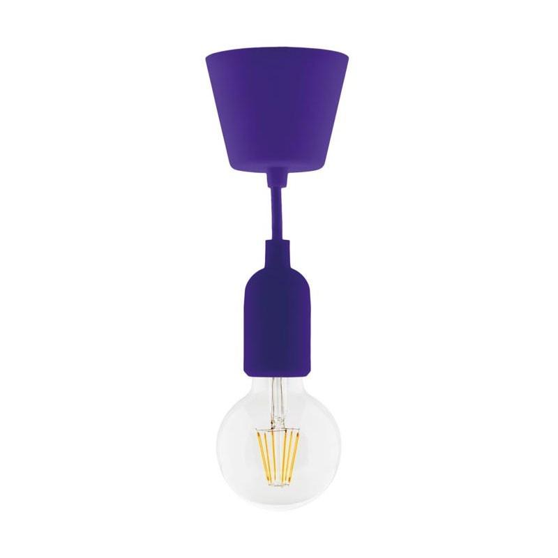 Lighting kit suspension kit deco purple + globe 6w led filament