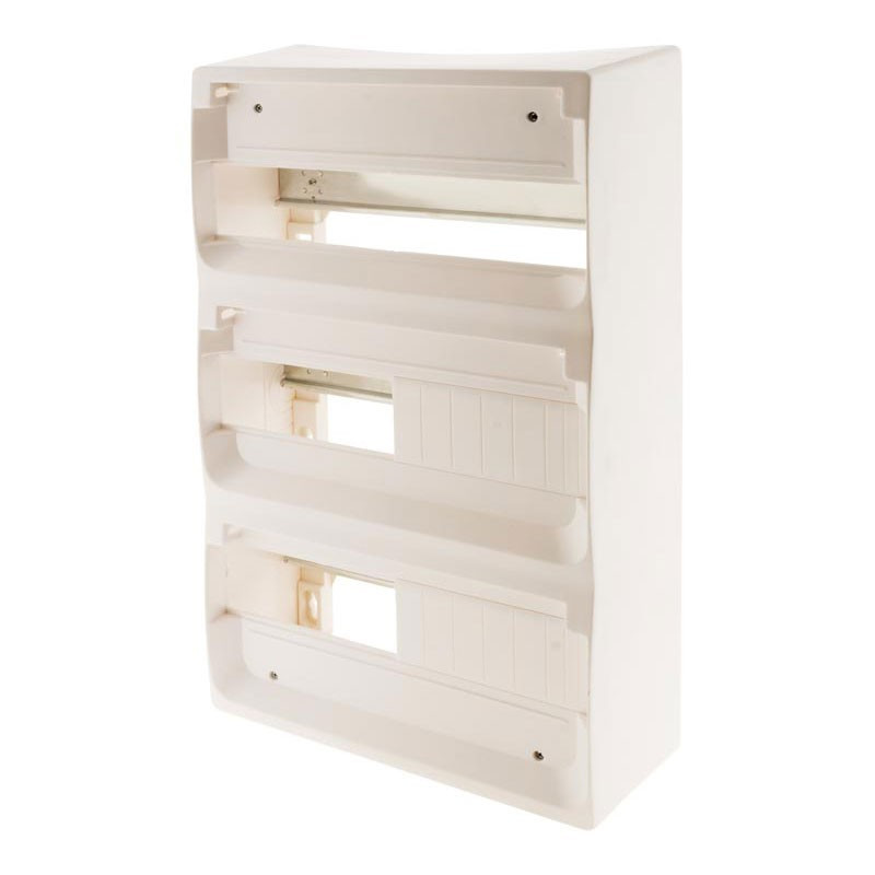 36-module electrical box white metal rail without door Zenitech