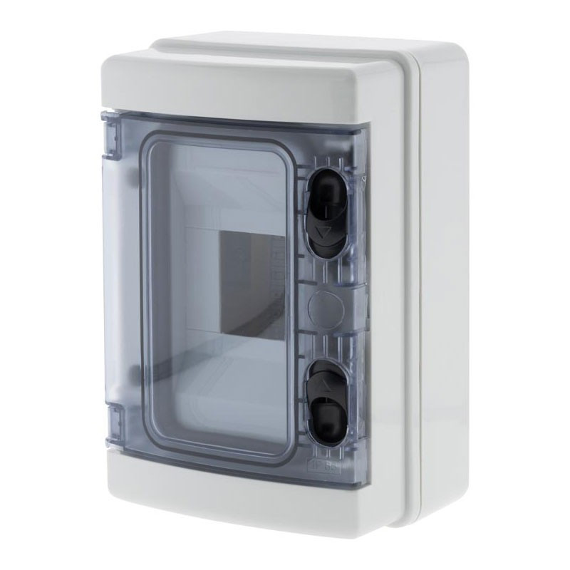 Waterproof electrical box 4 modules with IP 65 POST IP65WATERPROOF ELECTRICAL BOX 4 MODULES WITH IP65 DOOR