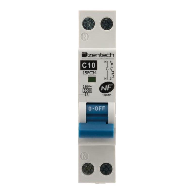 Circuit breaker PH/N 3KA 10A Zenitech NF