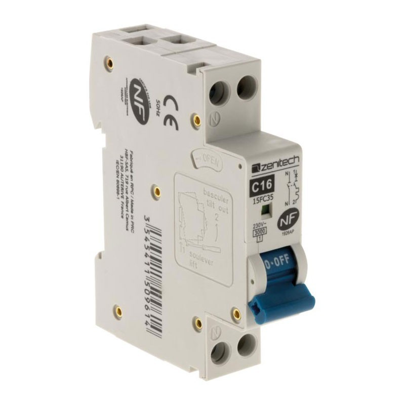 Circuit breaker PH/N 3KA 16A Zenitech NF