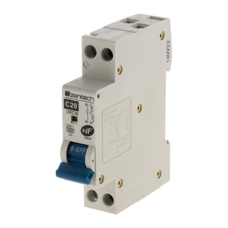 Circuit breaker PH/N 3KA 20A Zenitech NF
