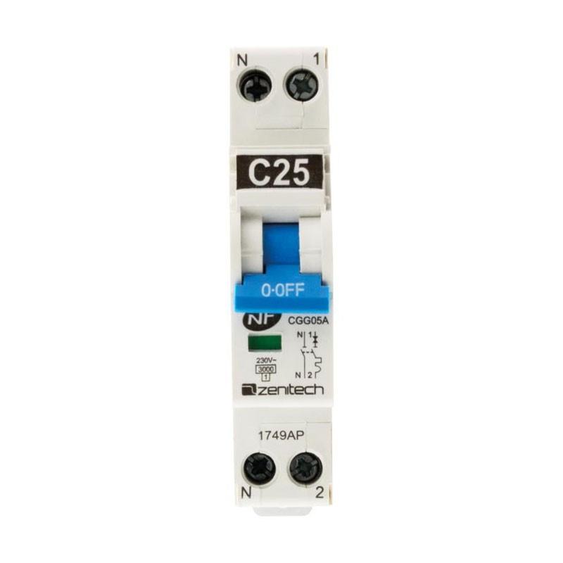 Circuit breaker PH/N 3KA 25A Zenitech NF