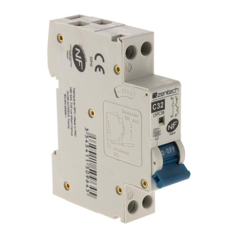 Circuit breaker PH/N 3KA 32A Zenitech NF