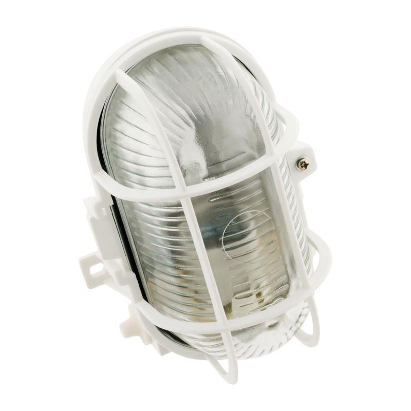 Oval porthole 60W IP44 class 2 with white grille