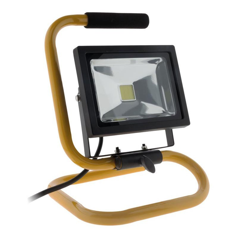 LED Floodlight 20w PORTABLE + Cable 1.5m L Yellow ELEXITY