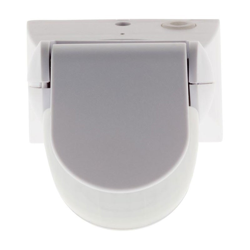 Surface-mounted extra-flat swivelling motion detector white Elexity