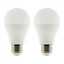454501 LOT 2 AMPOULES LED STANDARD 6W E27 4000K 600 LM
