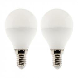 Lot de 2 ampoules led standard 6W E27 6500K 470LM