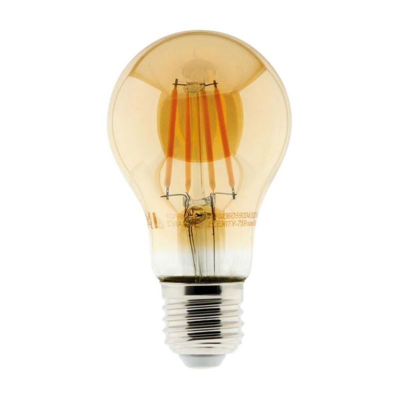 4W E27 345 lumens Elexity standard amber filament led bulb E27 345 lumens Elexity